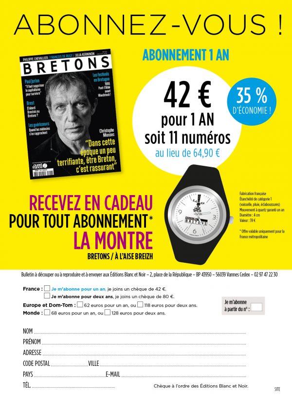 Je m'abonne à Bretons par chèque (montre)
