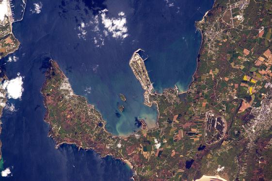 Brest - Cliché de Thomas Pesquet depuis la station spatiale internationale. — Bretons
